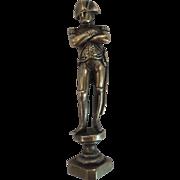 19th C. French Bronze Napoleon Wax Seal, Napoleonic Crest