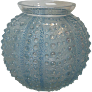 R. LALIQUE OURSIN Sea Urchin Vase, Blue Patina/Staining, c. 1930's