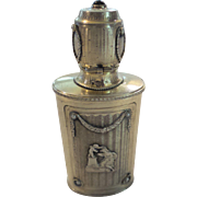 Rare French Sterling Silver Jeweled Scent/Perfume Bottle