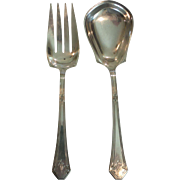 "Towle LADY MARY Sterling Silver Large 2-Piece 9"" Salad Serving Set"