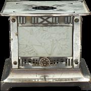 RARE German 4-Panel LITHOPHANE Teapot Warmer Candle Lamp, Castle Scenes