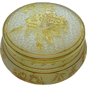 ST. LOUIS French Cameo Art Glass Dresser / Powder Box