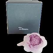 Daum PATE de VERRE Rose Figurine, Lavender/Amethyst