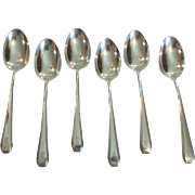 "Set/6 Towle CASCADE Sterling Silver Teaspoons, Retired, Monogram ""D"""