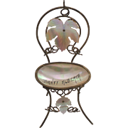 19th C. French PALAIS ROYAL & M.O.P. Ladies Novelty Pocket Watch Holder, Chair / Stand