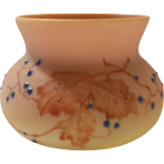 Mt. Washington BURMESE Art Glass Vase, c. 1880