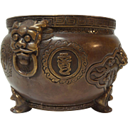Chinese Bronze CENSER, Dragons & Mythical Beast