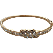 Gorgeous 14 K Yellow Gold 1.75 Carat Diamond Bangle Bracelet, Appraised $5,350.00