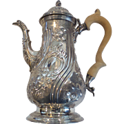 GEORGE III Sterling Silver Coffee Pot, London, c. 1777