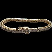 14 Karat Gold Line Bracelet, 3.5 Carat Diamonds, Appraised $6000.00