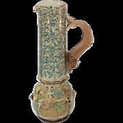 MOSER Enameled Ewer, DOLPHIN Handle, c. 1880