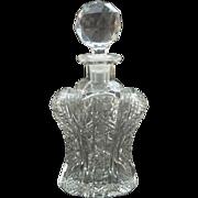 Unusual American Brilliant Period Cut Glass TORSO Shape COLOGNE or Perfume Bottle