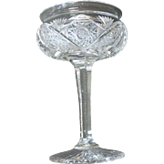 "American Brilliant Period (ABP) Cut Glass 6"" COMPOTE, c. 1880-1900"