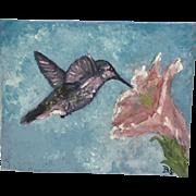 Original acrylics-Hummingbirds (Set of 2)