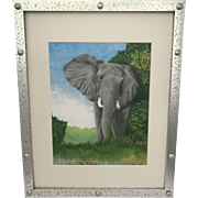 Elephant Suddenly Appears & Serengeti Stripes Giclee' (Set of 2)