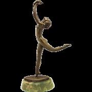 LORENZL Vienna Bronze Dancer Art Deco c1930