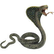 BERGMAN Large KING COBRA Cold Painted Vienna Bronze Snake
