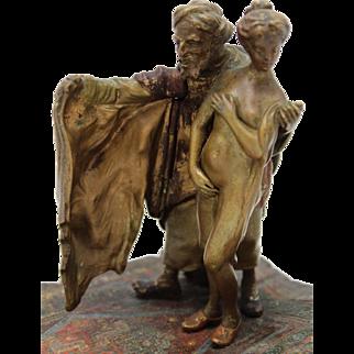 BERGMAN Slave Trader Mechanical Vienna Bronze Cold Painted