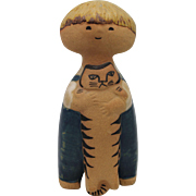 """PELLE"" Gustavsberg Lisa Larson Swedish Ceramic Figure, Boy with Cat"