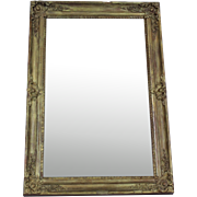 French Antique Mercury Glass Gilded Mirror