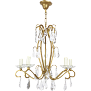 Stunning French Bronze and crystal ceiling Light Chandelier