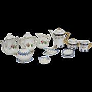 Dolls House Miniature Dinner service / Tea Service