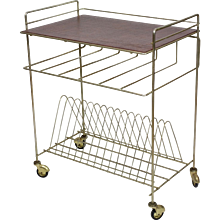 Vintage French Record Player Stand / Trolley