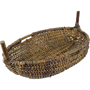 Authentic Vintage French Wicker Basket
