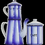 Enamel Coffee Pot / Cafetiere