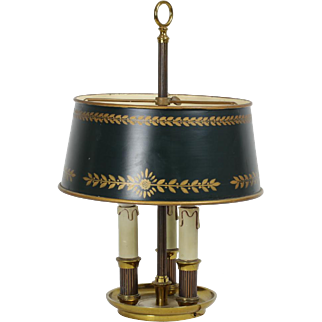 French Vintage Bouillotte Lamp
