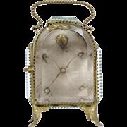 French Antique Napoleon III Pocket Watch Holder // Jewellery Box