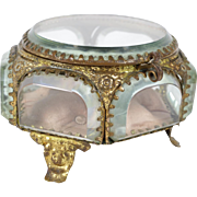 French Antique Napoleon III Polygon Jewellery Box // Ring Box