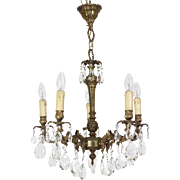 French Glass Crystal Chandelier