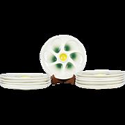 Vintage Oyster Plates manufactured by Salins of France set of 10