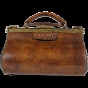 Vintage French Doctor / Gladstone Bag