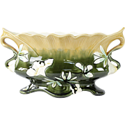 French Antique Majolica Jardiniere by Fives Lille