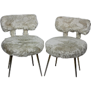 Pair of Kitsch Pelfran Woolly Chairs