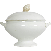 French Antique Ironstone Soup Tureen by Onnaing