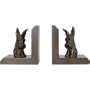Pair of Wood Scottie Dog Bookends