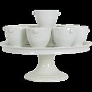 Antique French Crème service / Pots a crème