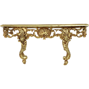 French Gold Wall Shelf / Corbel / Sconce