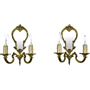 Vintage French Mirrored Wall Sconces