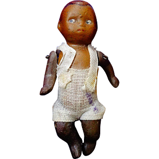 A Cute Black All Bisque Germany Baby Doll
