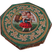 Charming French Cardboard Pin Box C.1890