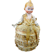 An Adorable Bisque Fairy Kewpie Doll with Ball Gown