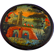 19th Century Paper Mache Russian Snuff Box