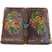 A Gorgeous Victorian Fold Out Floral cushioned Needle Case C.1890