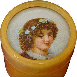 A Beautiful Blonde Bakelite Pot C.1920