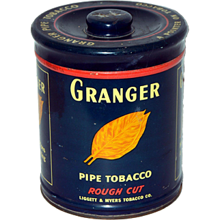 Vintage Granger Pipe Tobacco Tin with lid from Liggett & Myers 1926 Tax Stamp