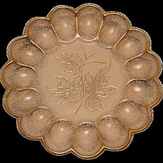 California Originals Egg or Oyster Serving Plate Leaf Pattern